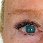 Example of eyelash volume extensions