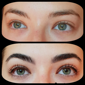 Example of lash lift and eyebrow tint